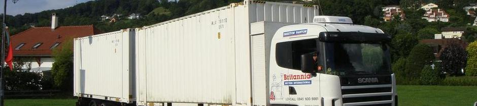 Britannia Smeeton Panton removals of Lincolnshire Moving overseas abroad shipping